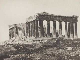 The Parthenon from the Acropolis, Athens c. 1848, Salted paper print