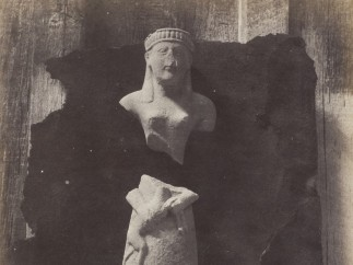 Terra Cotta Statuettes from Camiros, Rhodes 1863, Salted paper print