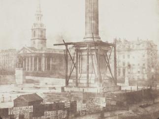 Nelson's Column, Trafalgar Square 1843, Salted paper print