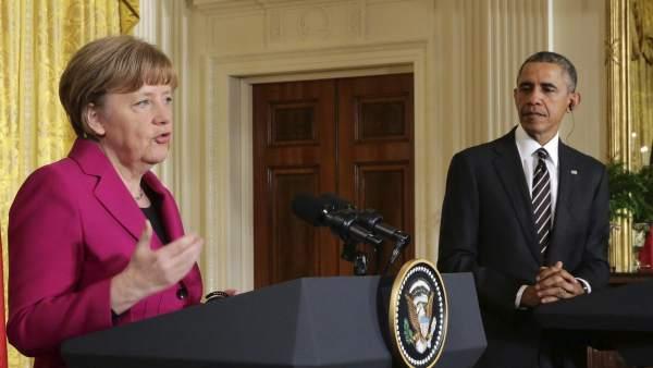 Obama se reúne con Merkel