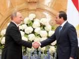 Al Sisi y Vladimir Putin