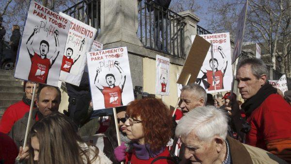Los afectados por la hepatitis C frente al Tribunal Supremo