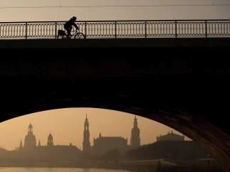 Amanecer en Dresde