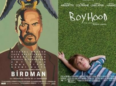 'Birdman' y 'Boyhood'