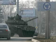 Tanque prorruso en Donestk