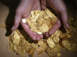 Monedas de oro en Israel