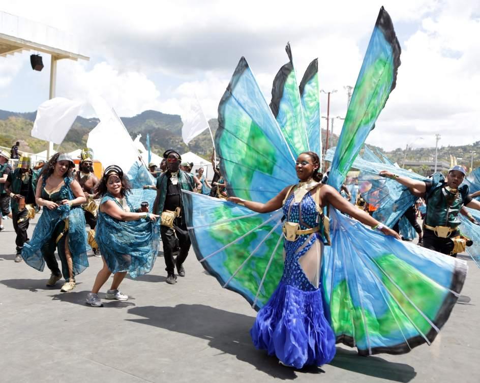 Carnaval en Trinidad y Tobago. Una integrante de K2K Alliance's 2015 presentation Millenia 3 participa en la celebración del anual Carnaval de Trinidad y Tobago en el Queen's Park Savannah en Puerto España (Trinidad y Tobago).