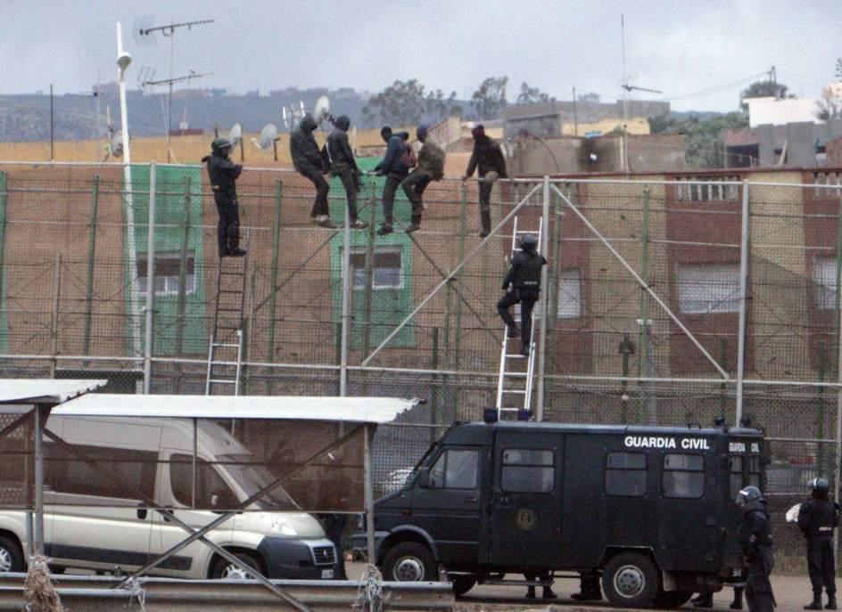 Intento de salto en Melilla