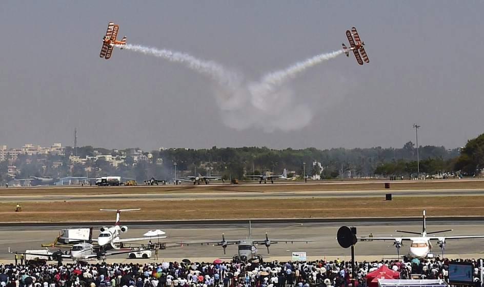 Acrobacias aéreas en India