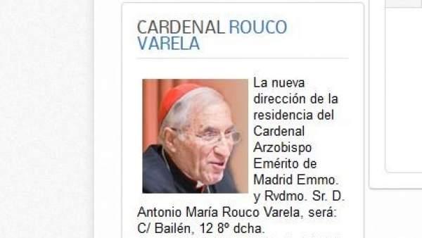 Nuevo domicilio de Rouco Varela
