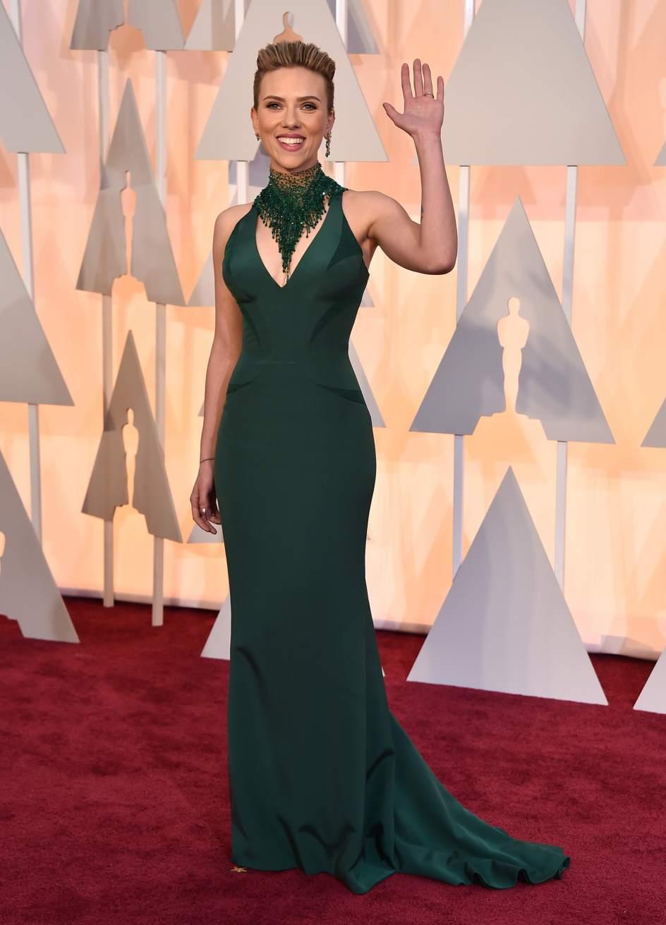 Foto Scarlett Johansson Alfombra Roja De Los Oscar