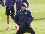 Entrenamiento del Manchester City en febrero de 2015
