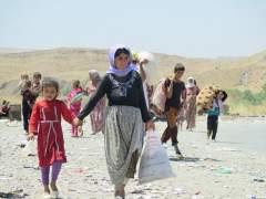 Refugiados yezad�es huyendo del Estado Isl�mico en Irak.