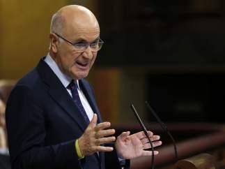 El portavoz de CiU en el Congreso, Josep Antoni Duran i Lleida, durante su intervención en el debate sobre el estado de la nación.
