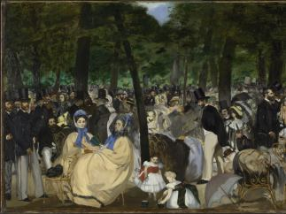 'Music in the Tuileries Gardens', 1862