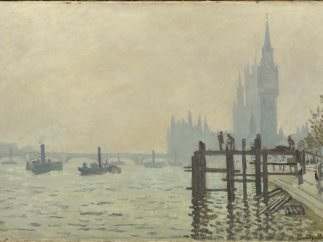 'The Thames below Westminster', about 1871