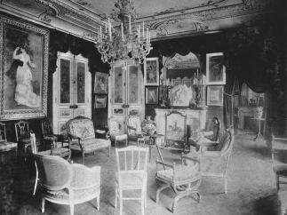 'The grand salon at Rue de Rome with 'Dance in the City' by Renoir'