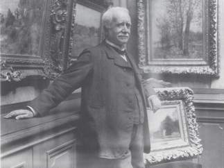 'Photograph of Paul Durand-Ruel in his gallery, taken by Dornac', about 1910
