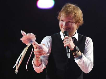 Ed Sheeran en los Brit Awards