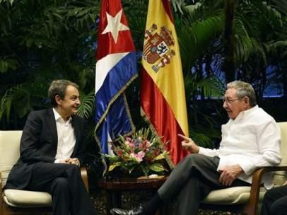 Ra�l Castro se re�ne con Zapatero