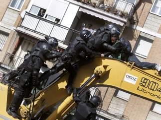 Forcejeos en la excavadora