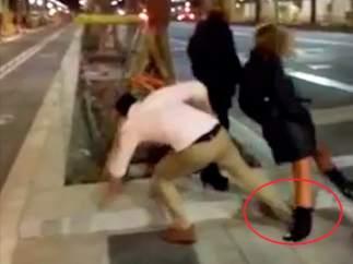 Inexplicable agresión en Barcelona