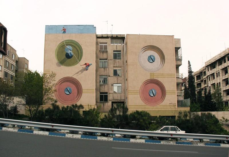 Mural en Teherán - Tornillos
