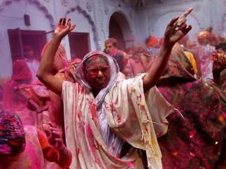 Festival Holi en Vrindavan
