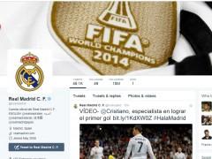 Perfil del Real Madrid en Twitter