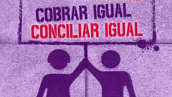 Cartel convocatoria de manifestación del 8 de marzo
