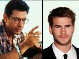 Jeff GoldBlum y Liam Hemsworth