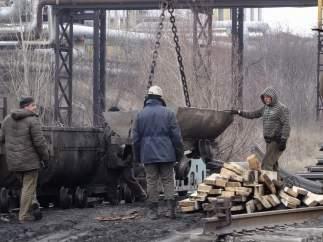 Explosión en una mina en Donetsk