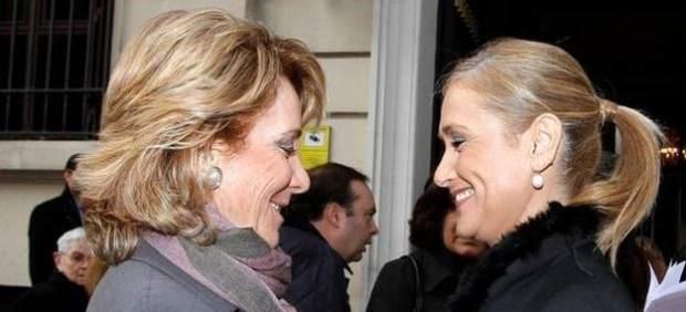 Esperanza Aguirre y Cristina Cifientes