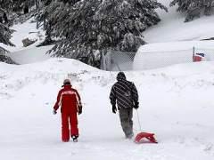 Abren las pistas de esquí del Puerto de Navacerrada