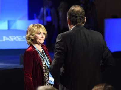 Esperanza Aguirre y Mariano Rajoy