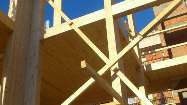 Casa de madera en Barcelona