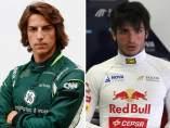 Roberto Merhi y Carlos Sainz Jr.
