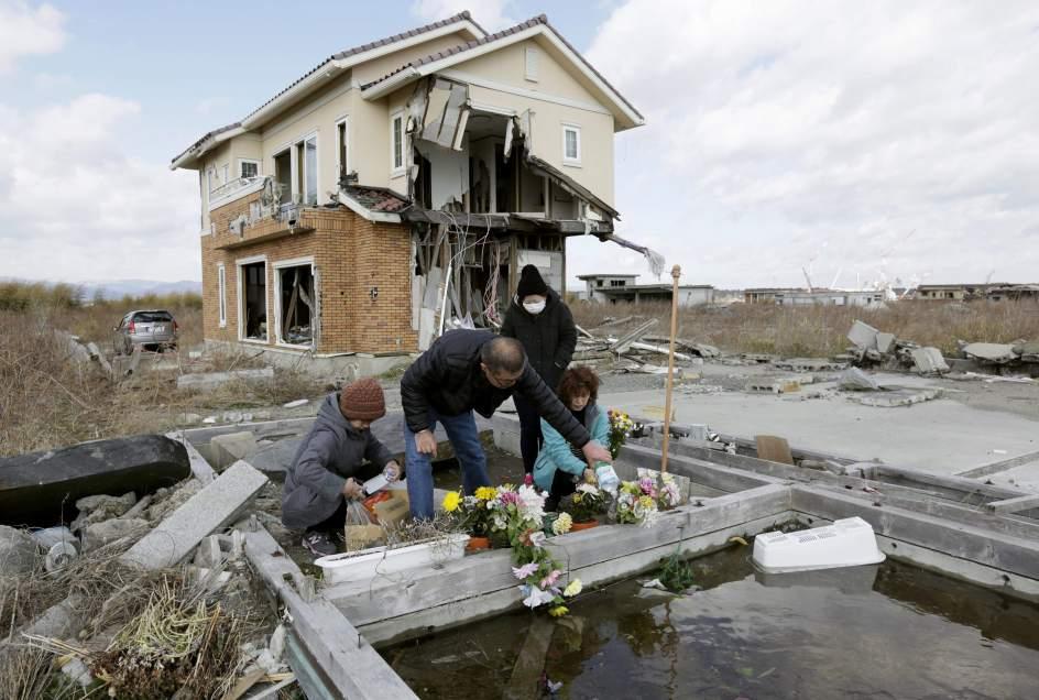 Cuarto aniversario del terremoto y tsunami de Japón
