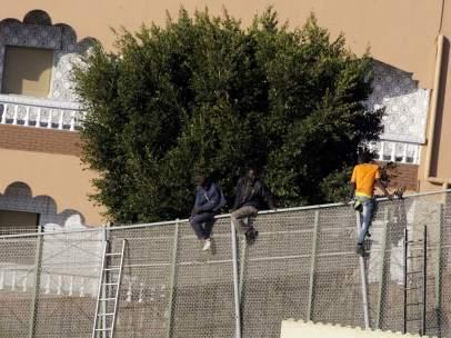 Inmigrantes de la valla de Melilla