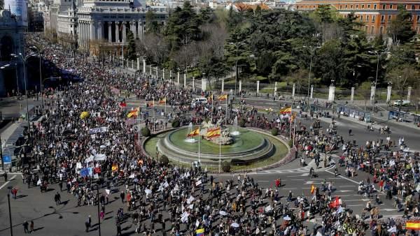 Manifestación antiabortista en Madrid