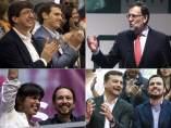 Los líderes políticos apoyan a sus candidatos