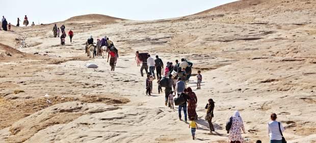 El éxodo de los refugiados sirios