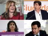 Candidatos en Andalucía