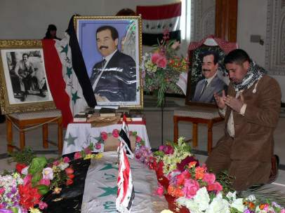 Capilla ardiente de Sadam Hussein