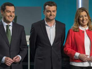 Los tres candidatos a la Presidencia de la Junta de Andalucía.