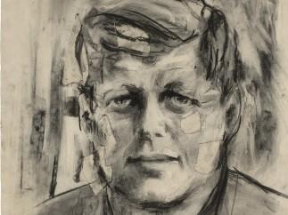 JOHN F. KENNEDY by Elaine de Kooning, 1963