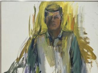 JOHN F. KENNEDY #21 by Elaine de Kooning, 1963