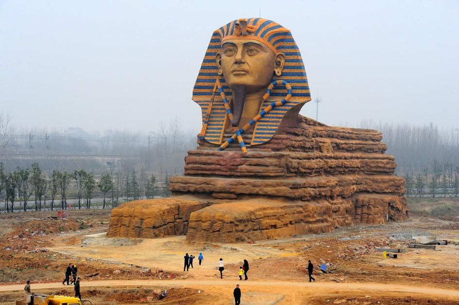 Réplica de la esfinge de Gizeh en China