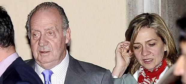 Rey Juan Carlos y la infanta Cristina