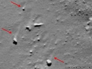 Marcas de polvo cometa 67P